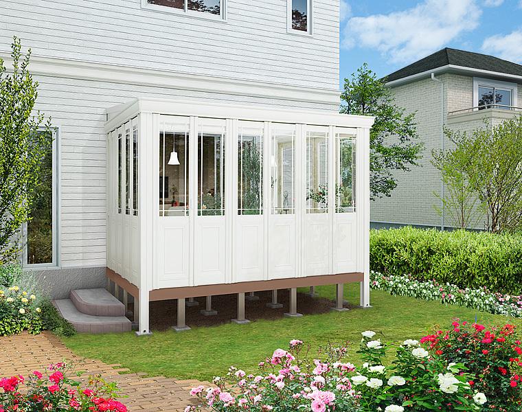 暖蘭物語 ガーデンルーム ホワイト インナーデッキ