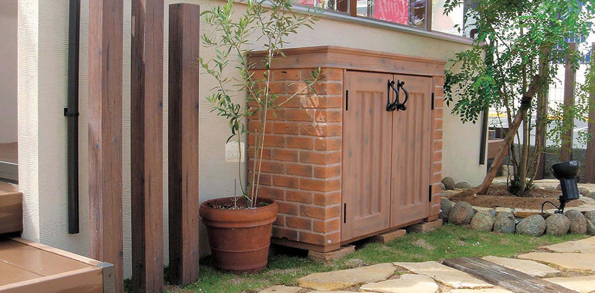ディーズシェッド カンナミニ Dea's Garden 物置 お庭