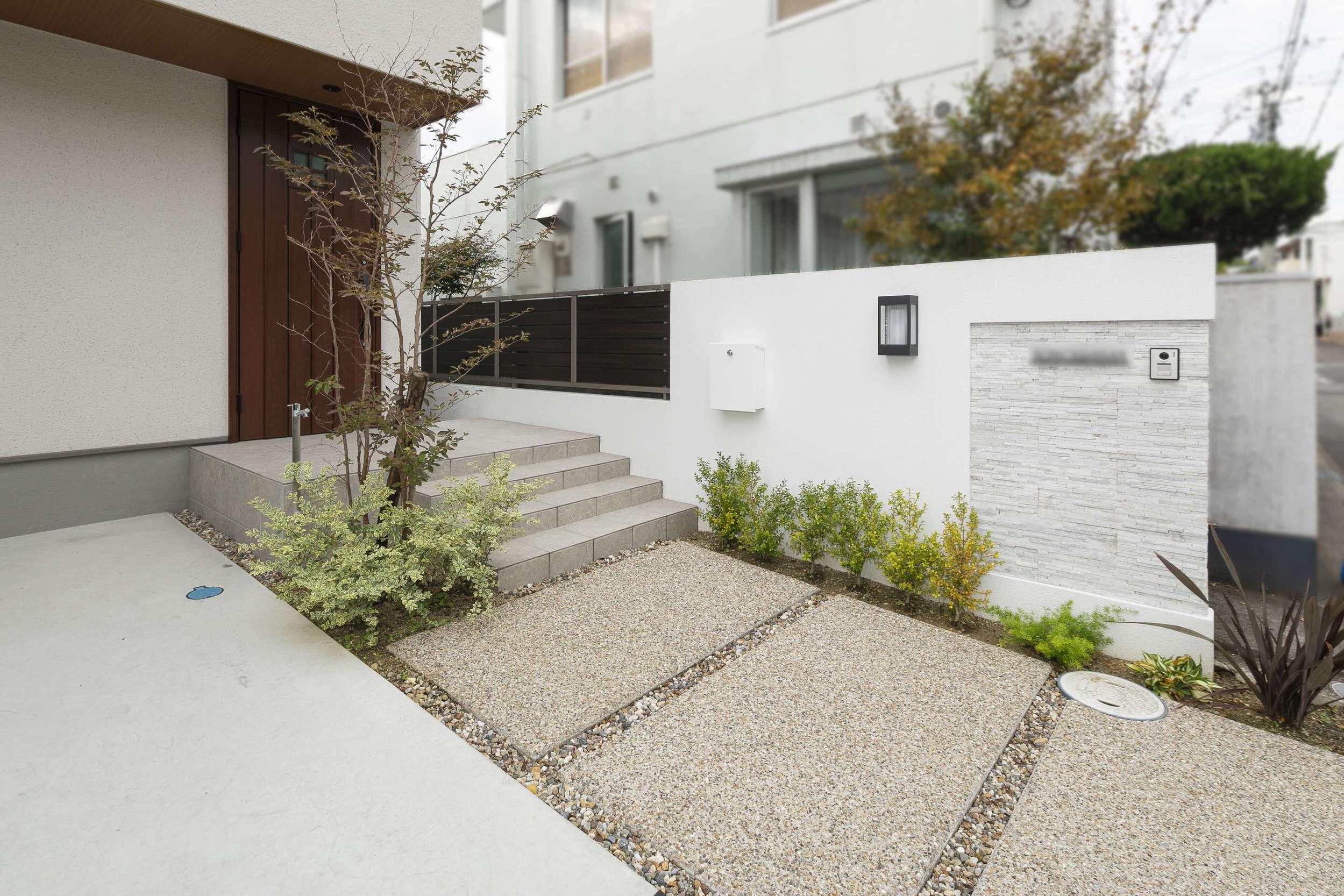 新築外構 ウッドデッキ ガーデンリビング シンプルナチュラル