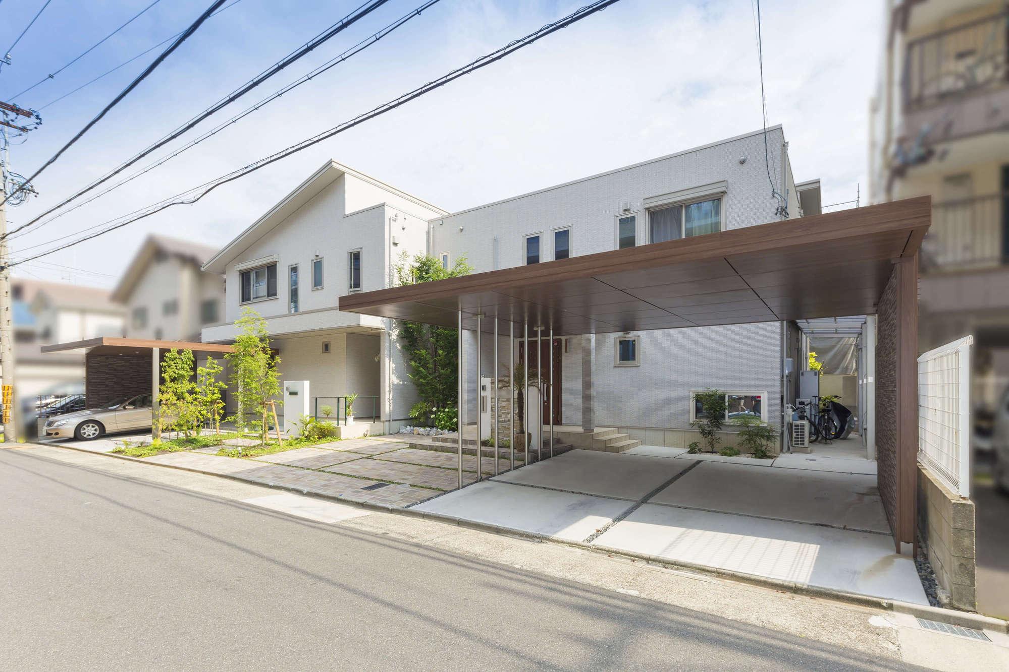 ダイワハウス リゾート風外構 新築外構 二世帯住宅 LIXIL エクステリア